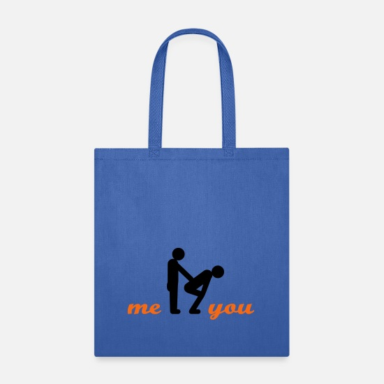 Funny Bags & Backpacks - gay guys top - Tote Bag royal blue
