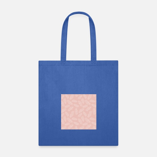 Pink Bags & Backpacks - Tropical Seamless Floral Pattern - Tote Bag royal blue