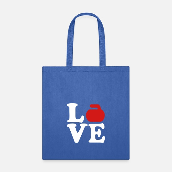 Ice Bags & Backpacks - Curling love - Tote Bag royal blue