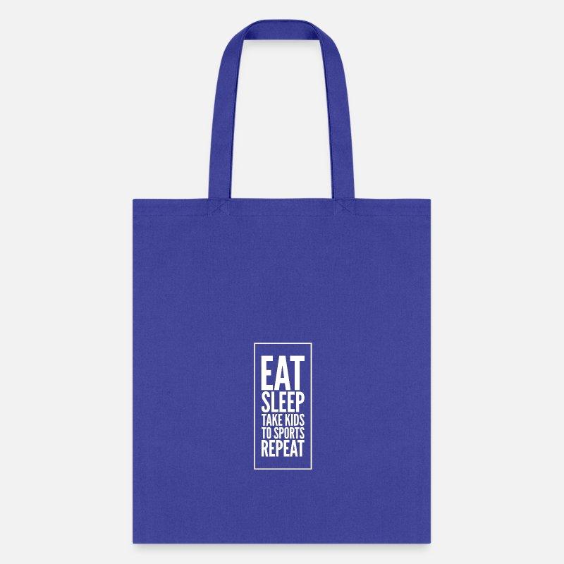 9f17af876d1e4 Eat sleep take kids to sports repeat Tote Bag - lime green