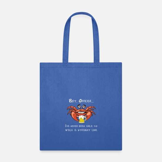 Crab Bags & Backpacks - Crab But Office I Always Walk This Way - Tote Bag royal blue