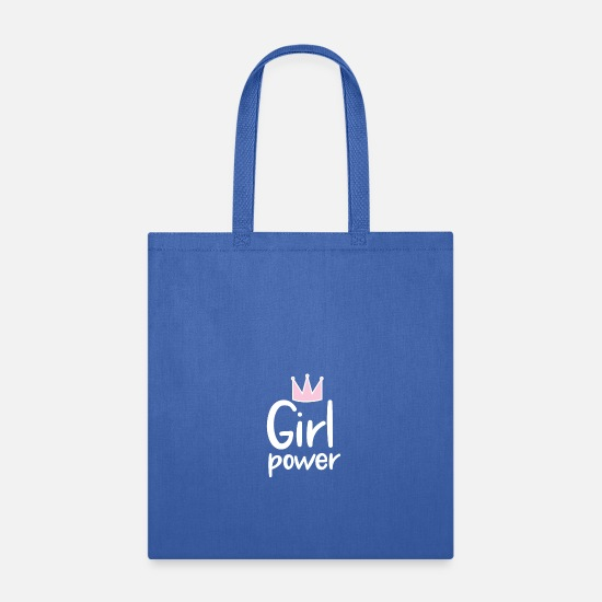 Power Bags & Backpacks - Girl Power, Powerful Woman - Tote Bag royal blue