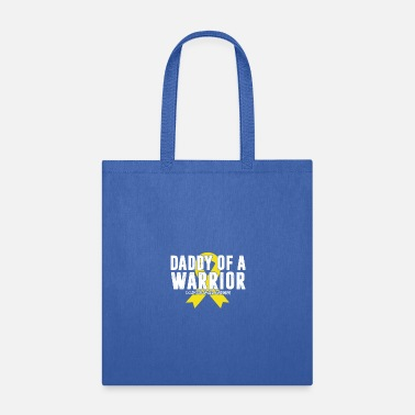 Retriever Daddy of a Warrior Childhood Cancer Shirt Gold Rib - Tote Bag