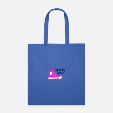 Religious Religious Walk By Faith Pink Sneaker - Tote Bag