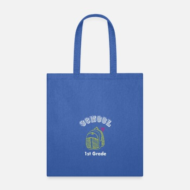 Back To School 1st First Grade Backpack Back to School Art Design - Tote Bag