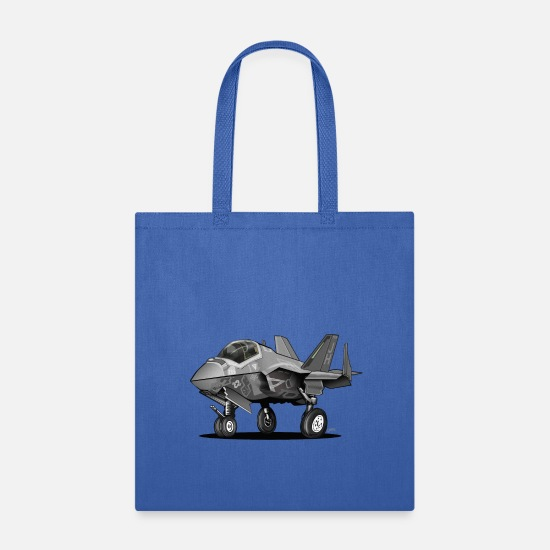 Aviation Bags & Backpacks - F-35C Lightning II Joint Strike Fighter Il Cartoon - Tote Bag royal blue
