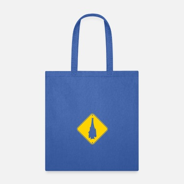 Down caution note caution danger zone shield warning ha - Tote Bag