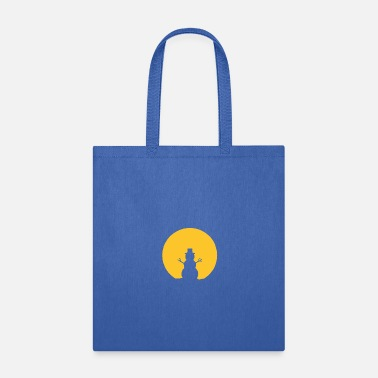 Snowman In Moonlight - Tote Bag