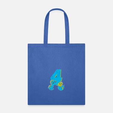 Birthday 4th Birthday T-Shirt boys Dino, Dinosaurs - Tote Bag