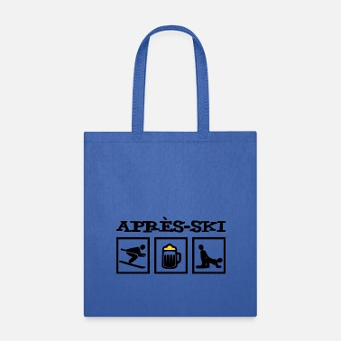 Alps Après-ski design with skier / beer / mass / sex - Tote Bag