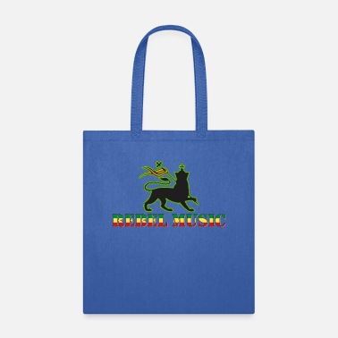Music Rebel Music - Reggae Music with Lion of Judah - Tote Bag