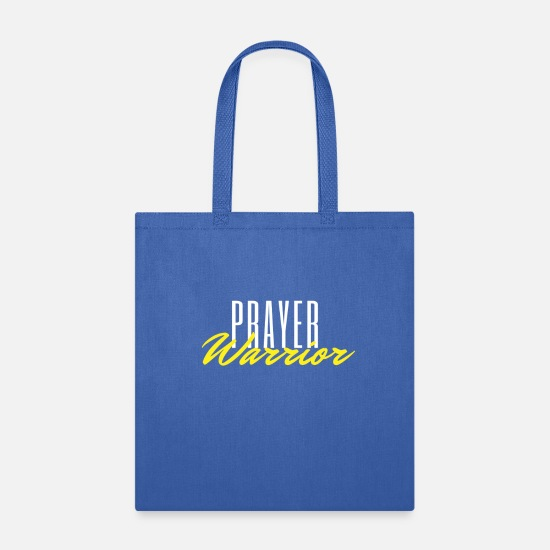 Warrior Bags & Backpacks - Prayer Warrior - Tote Bag royal blue