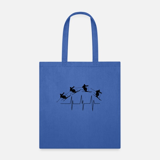 Ski Bags & Backpacks - Ski Jump - Ski Heartbeat - Tote Bag royal blue