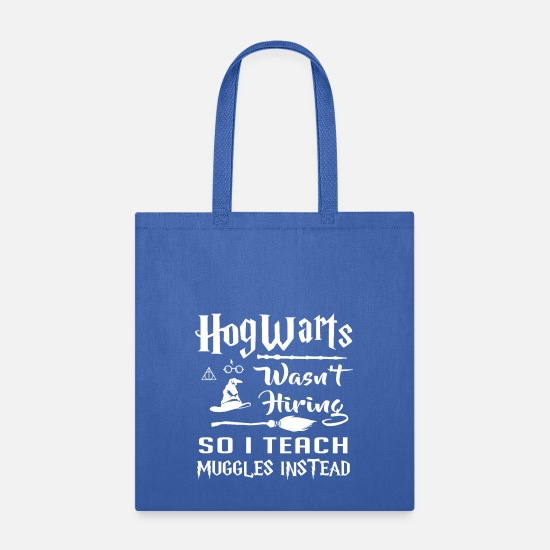 Teach Bags & Backpacks - I teach Muggles instead - Tote Bag royal blue
