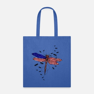 Patriot American Flag Patriotic Dragonfly 4th Of July Gift - Tote Bag