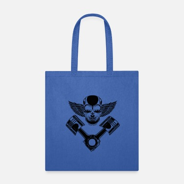 Block Piston Skull Great Skull V Motor Shirt - Tote Bag