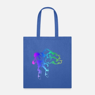Stencil Shooting Stars - the astronaut artist - Tote Bag