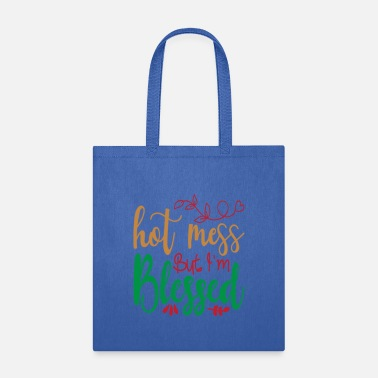 Tree Hot Mess But I'm Blessed - Christmas - Tote Bag