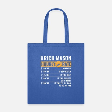 Guild Bricklayer hourly rate, brickmason brick masonry - Tote Bag