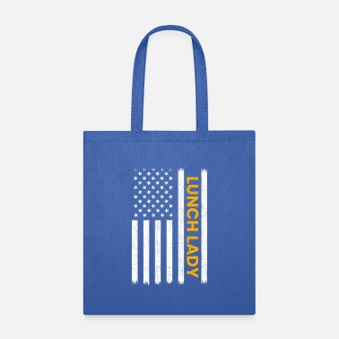 Ladies Teacher Lunch Lady American Flag, lunch lady - Tote Bag