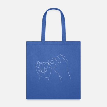 Whiteboard PINKY PROMISE 69 white vector - Tote Bag