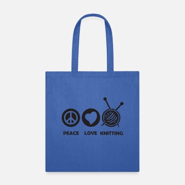Reading peace love knitting - Tote Bag