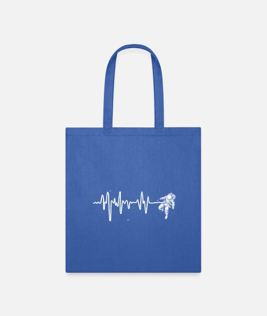 Space Bags & Backpacks - Space Heartbeat - Tote Bag royal blue