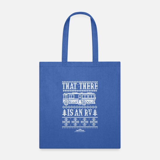 Vacation Bags & Backpacks - Christmas Vacation RV Faux Sweater T-Shirt - Tote Bag royal blue