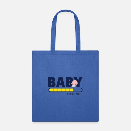 Birthday Bags & Backpacks - Baby Loading - Tote Bag royal blue