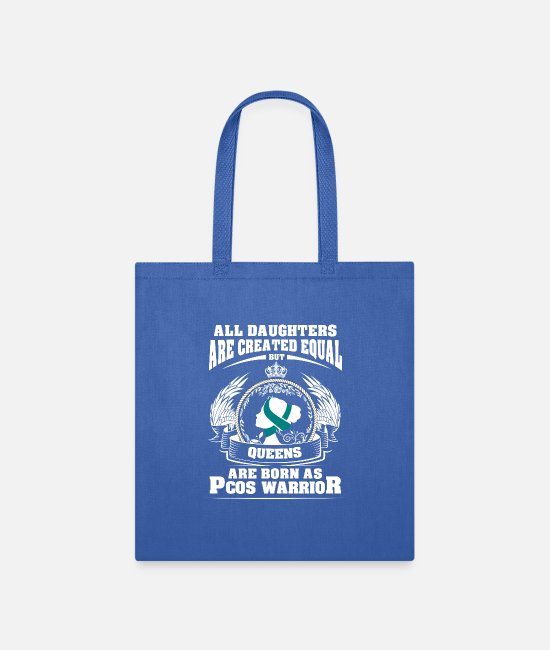 Daughters Bags & Backpacks - All Daughters Are Created Equal But QUEENS Are - Tote Bag royal blue