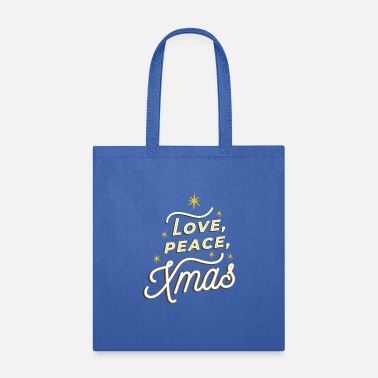 Merry Christmas Typografie - Tote Bag