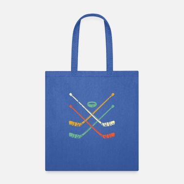 Hockey Retro 70s 80s Inspired Hockey Stick T Shirt Gift | - Tote Bag