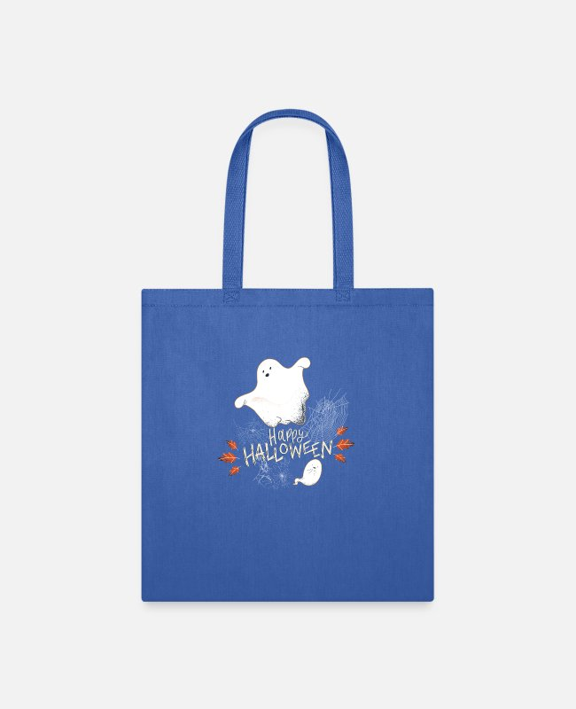 Happy Holidays Bags & Backpacks - Happy Halloween Cutie Ghost - Tote Bag royal blue