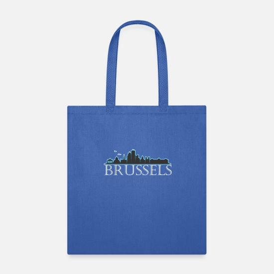 Brussels Bags & Backpacks - Brussels Belgium Brussels Gift - Tote Bag royal blue