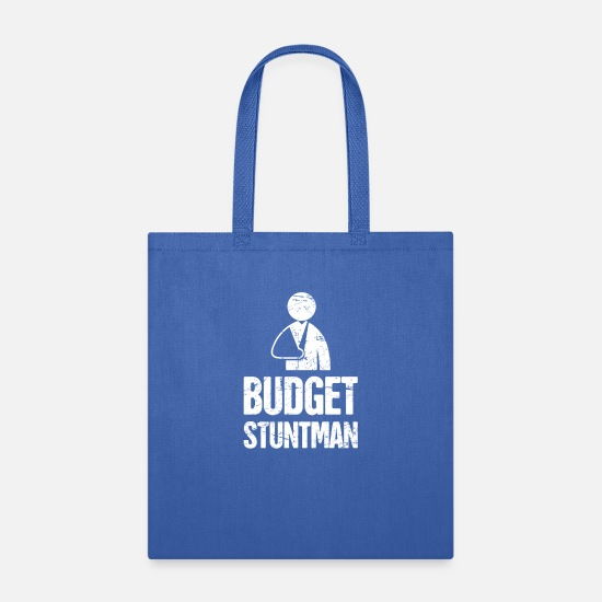 Broken Collarbone Bags & Backpacks - Stuntman - Funny Broken Collarbone Gift - Tote Bag royal blue