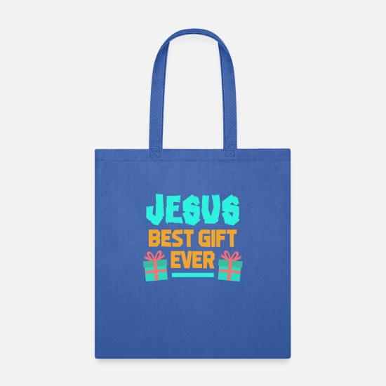 Jesus Bags & Backpacks - Jesus Best Gift Ever - Tote Bag royal blue