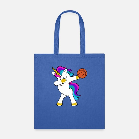 Dabbing Soccer Bags & Backpacks - Dabbing Unicorn Basketball - Tote Bag royal blue