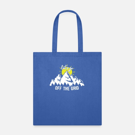 Camping Bags & Backpacks - Let's Go Off The Grid - Tote Bag royal blue