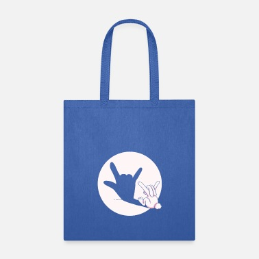 shadow bunny cool hand gesture gift idea - Tote Bag