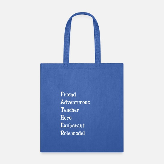 Dad Gift Bags & Backpacks - Father Friend Adventurous Teacher Hero Exuberant - Tote Bag royal blue