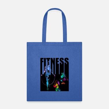 Training fitness girl rope skipping - Tote Bag