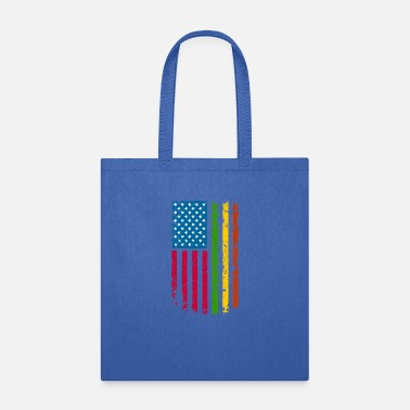 Ghana African American Roots Flag design - Tote Bag
