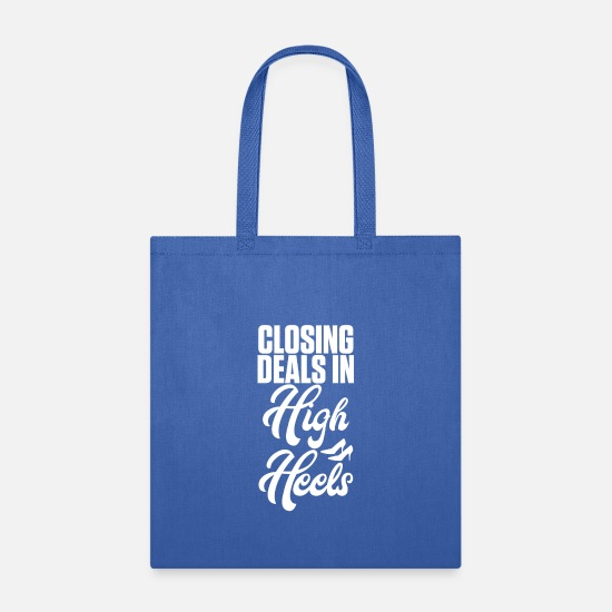Heel Bags & Backpacks - Closing Deals In High Heels - Tote Bag royal blue