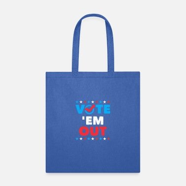 Political Cartoons Vote ' Em Out Gifts Political Politics Shirts - Tote Bag