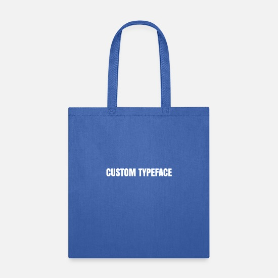 Customs Bags & Backpacks - CUSTOM TYPEFACE - Tote Bag royal blue