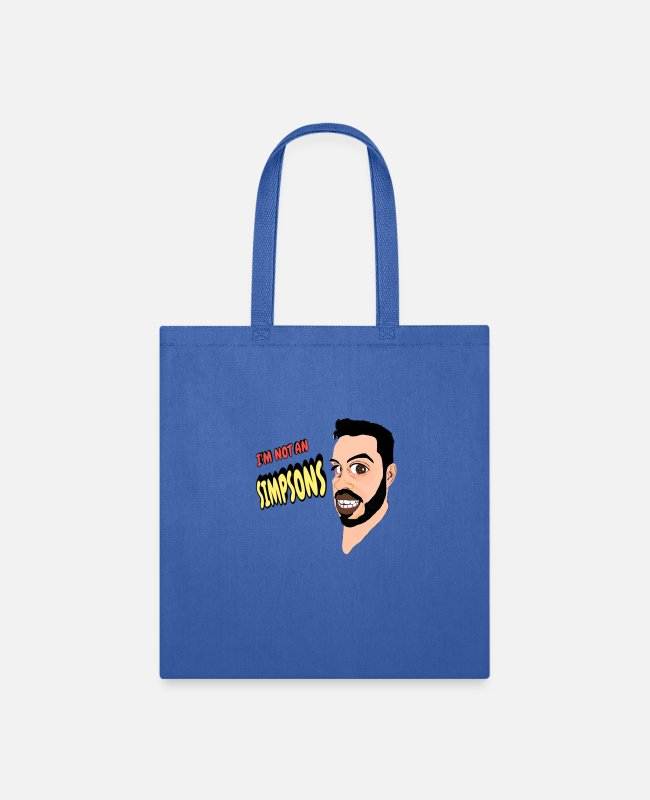 Geek Bags & Backpacks - CARICATURA - Tote Bag royal blue