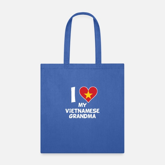 Love Bags & Backpacks - I Heart My Vietnamese Grandma - Tote Bag royal blue