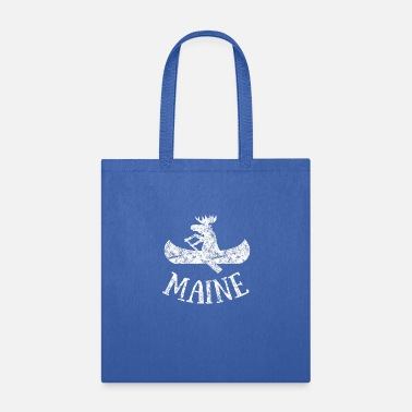 Canoe Maine Funny Moose Canoe Vacation - Tote Bag