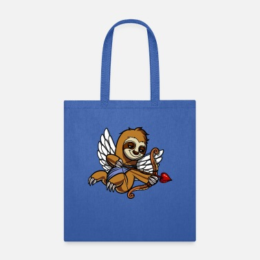 Funny Valetines Day Sloth Cupid Valetines Day Cute Animal - Tote Bag