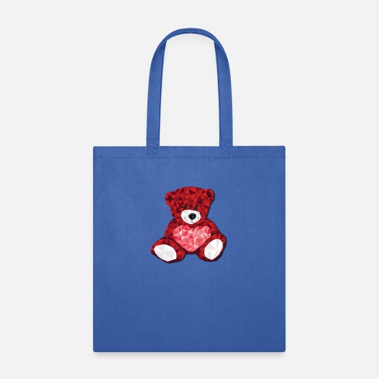 Birthday Bags & Backpacks - Valentine Tedy gift idea gift present - Tote Bag royal blue
